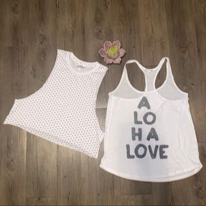 4/ $20 Bundle of Two Black and White Tank Tops